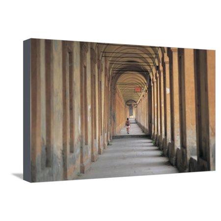 - Arcade of a Building, Portico San Luca, Bologna, Emilia-Romagna, Italy Stretched Canvas Print Wall Art