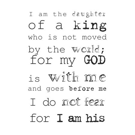 Black & White Typography Art - I Am Daughter Of A King Print - Christian Motivational Poster - Inspirational Office Ar (Christian Halloween Posters)