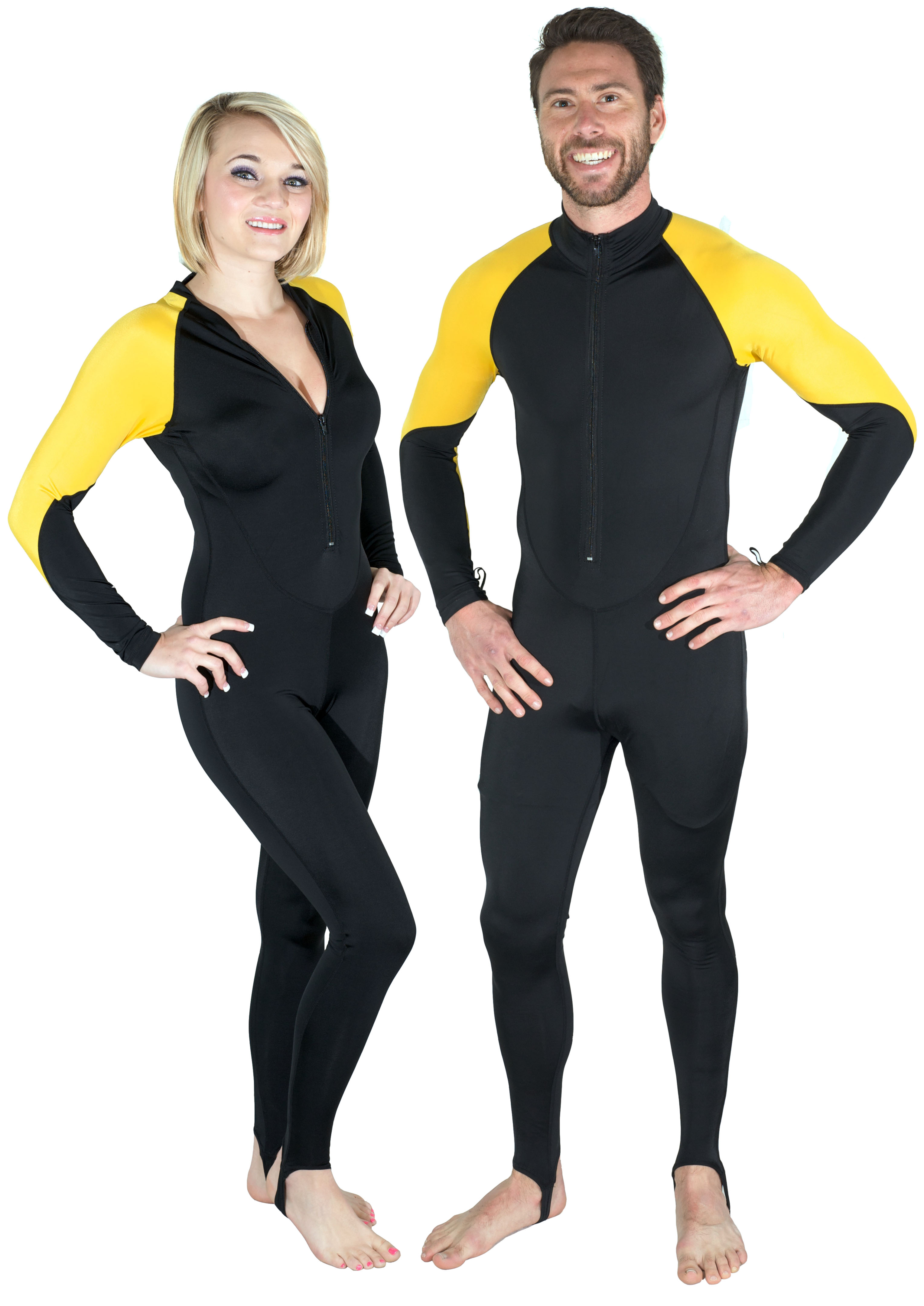 Storm Yellow and Black Lycra Dive Skin for Scuba, Snorkeling & Water Sports by Storm Accessories