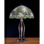 Meyda Tiffany 52172 Tiffany Glass Stained Glass / Tiffany Table Lamp From The Trillium &