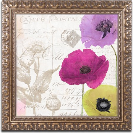 "Trademark Fine Art ""Love Notes I"" Canvas Art by Color Bakery, Gold Ornate Frame"