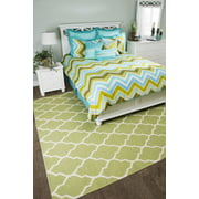 Rizzy Home BT1194 TEAL Cotton California King Three Piece Bedding Set