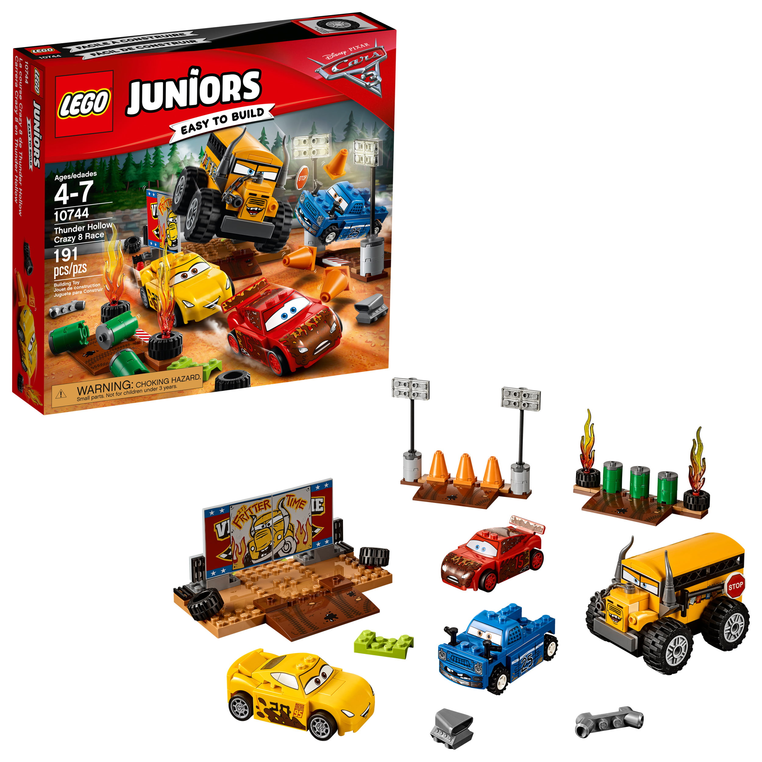 10744191 8 Pieces Lego Juniors Hollow Thunder Crazy Race rCthsdxQB