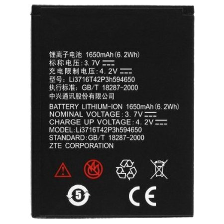 Replacement Battery for ZTE Li3716T42P3h594650 (Single Pack) Replacement (Best Replacement Battery For Ztes)