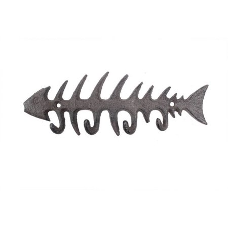 - Cast Iron Fish Bone Key Rack 8
