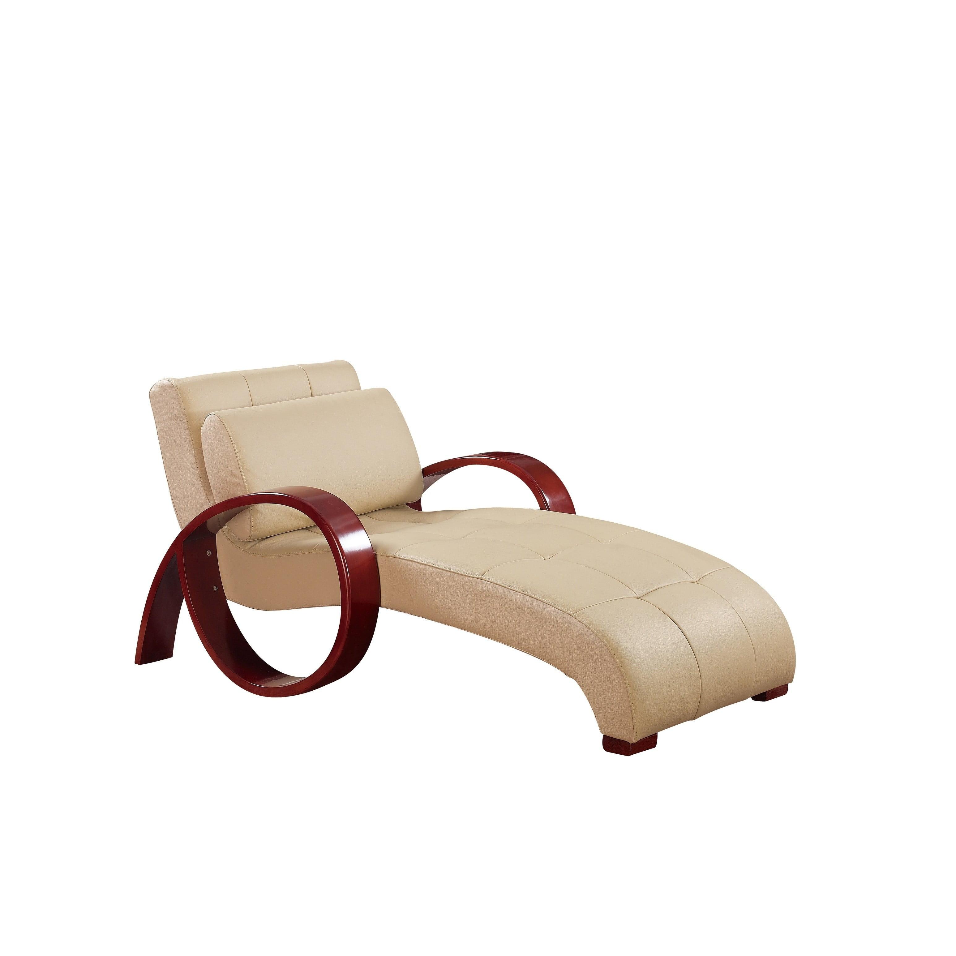 Global Furniture U963 Relax Chaise Cappuccino Walmartcom