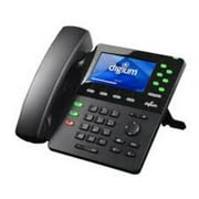Digium 1TELD065LF Phone, D65, 6-Line SIP with HD Voice, Gigabit, Bluetooth, 4.3 Inch Color Display, Icon Keys