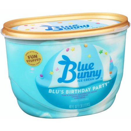 Blue Bunny Premium Birthday Party Ice Cream 46 Oz