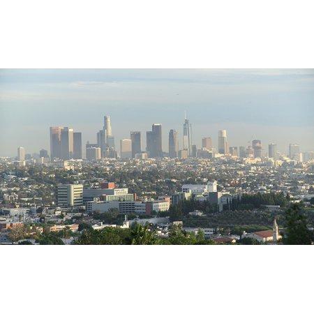 Los Angeles Skyline Posters (Peel-n-Stick Poster of Urban California Downtown Skyline Los Angeles Poster Print 24x16 Adhesive Sticker Poster Print)
