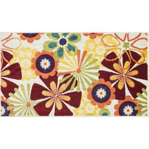 Ebern Designs Nanava Red/Yellow Area Rug