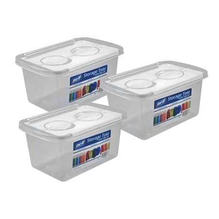 Stor-All Solutions  Storage Tote with Flip Lid- 3 Pack ()