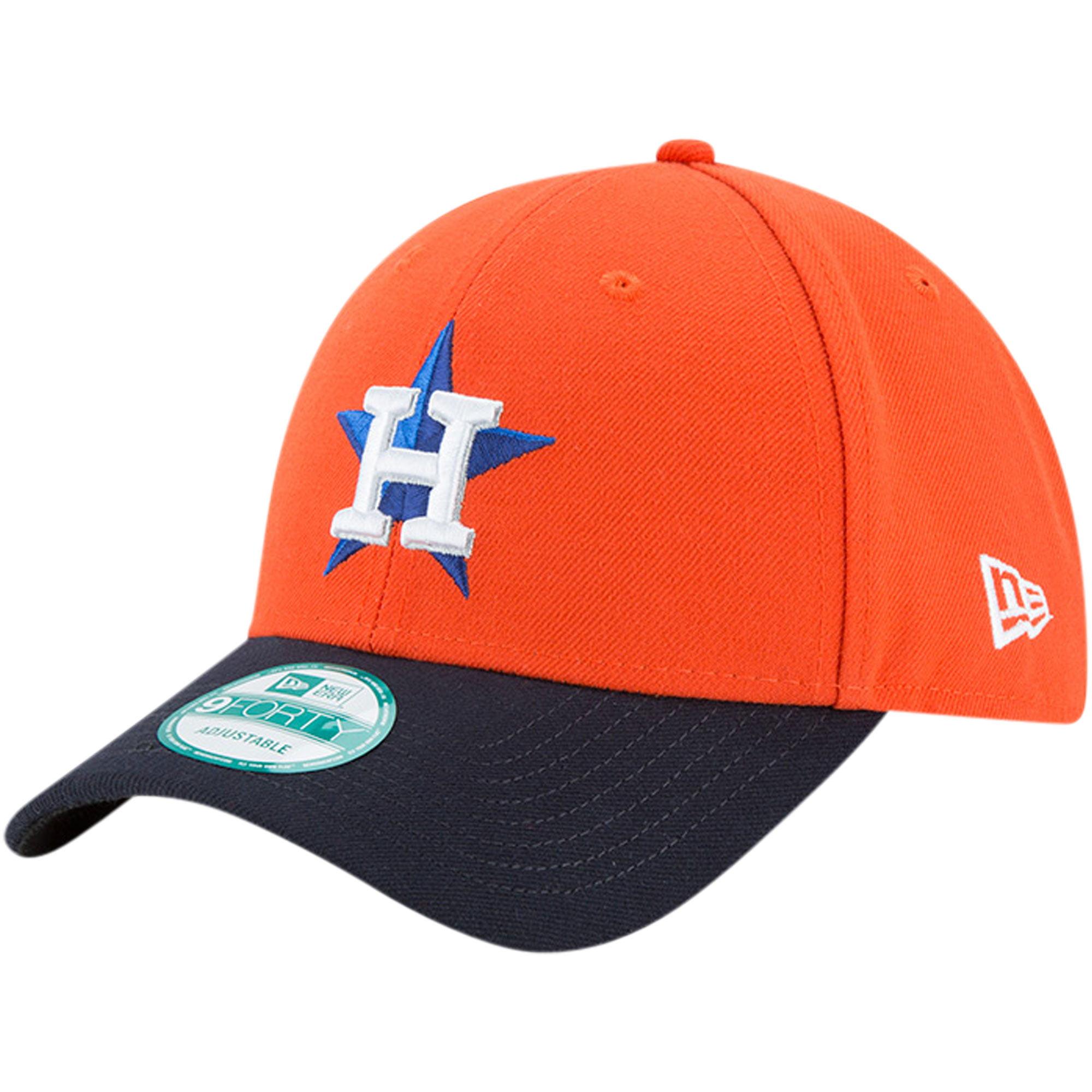 Houston Astros New Era The League Alternate 9FORTY Adjustable Hat - Orange/Navy - OSFA