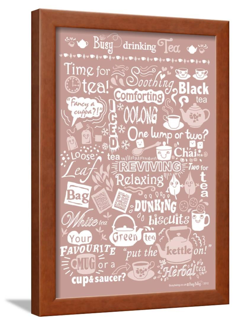 Busy Drinking Tea Framed Print Wall Art By Busy Being - Walmart.com 075c543197