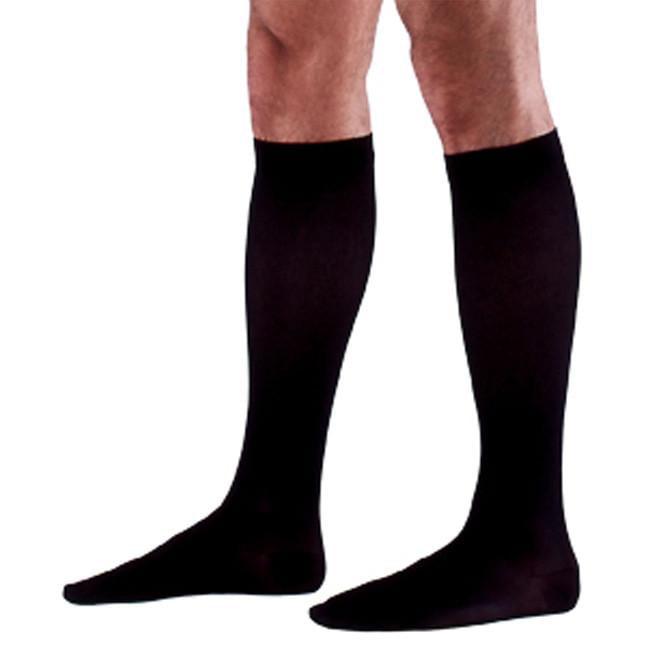 Sigvaris 923 Access Men's Ribbed Closed Toe Knee High Socks - 30-40 mmHg Short