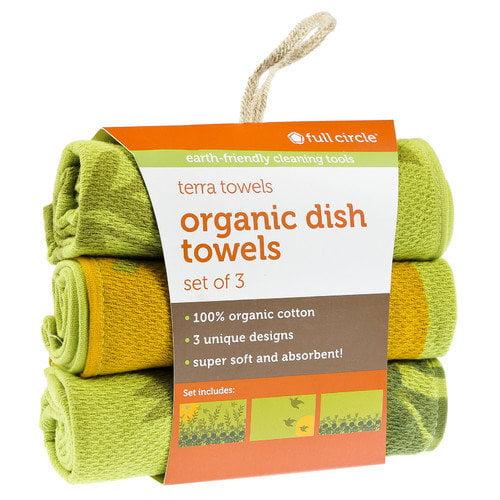 Full Circle Morning Bloom Organic Cotton Dish Towel (Set of 6) (Set of 3)