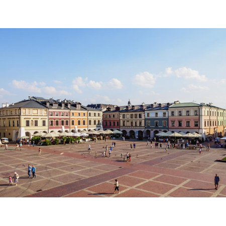 Colourful houses on the Market Square, Old Town, UNESCO World Heritage Site, Zamosc, Lublin Voivode Print Wall Art By Karol Kozlowski](Old World Market Halloween)