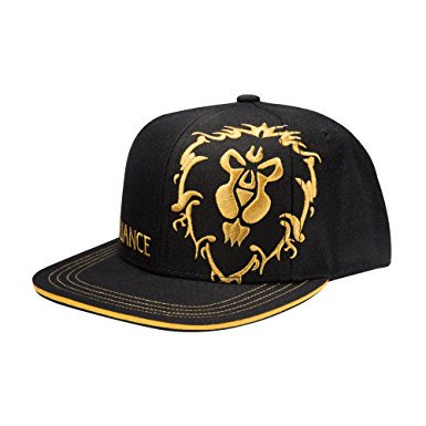 Baseball Cap - World of Warcraft - Alliance Honor Hat Snap-Back Black j7250 (World Industries Cap)
