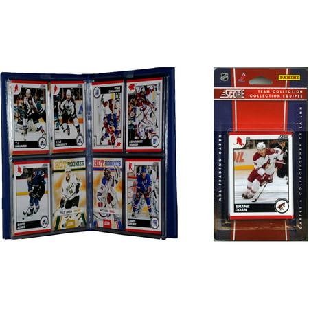C&I Collectables NHL Phoenix Coyotes Licensed 2010 Score Team Set and Storage Album ()