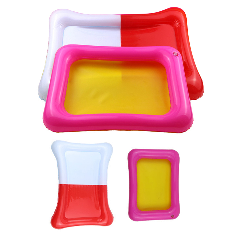 Girl12Queen Kids Indoor PVC Inflatable Castle Sand Box Sandbox Tray Table Fun Play Toys