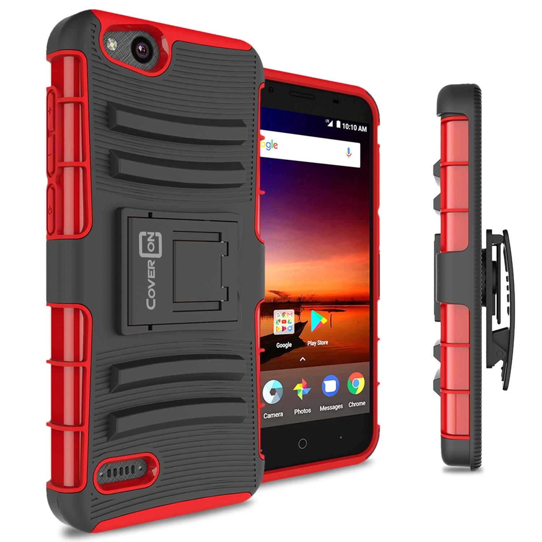 CoverON ZTE Tempo X / Blade Vantage / Avid 4 Case, Explorer Series  Protective Holster Belt Clip Phone Cover