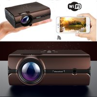Excelvan Mini Projector, Android 6.0 Multimedia LCD Projector Support bluetoooth 4.0 1080P wirelless Connection With smart-phone ta blet Many Interfaces For PC Game Console DVD