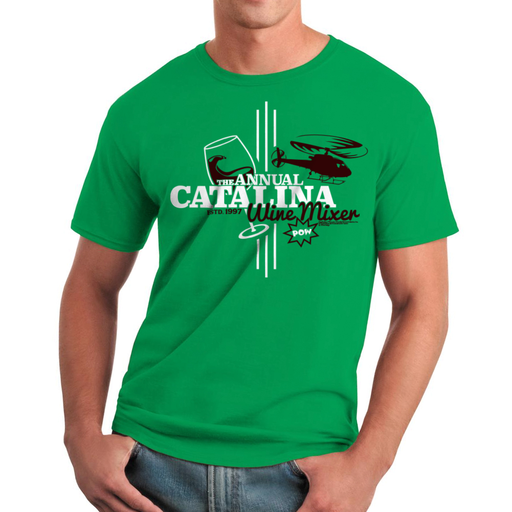 Step Brothers Catalina Wine Mixer Men's Kelly Green T-shirt NEW Sizes S-2XL