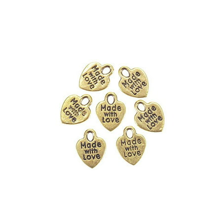 - Made With Love Charm Gold 50Pcpkg
