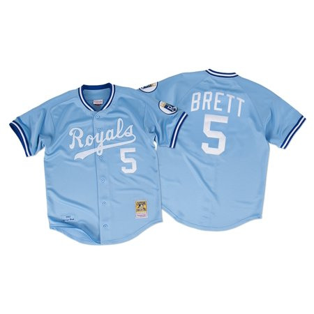 George Brett Kansas City Royals Mitchell & Ness Authentic 1985 Button Up Jersey by