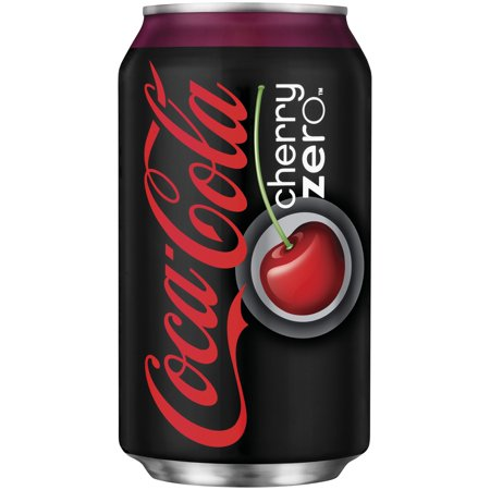 Coca Cola Zero Soda  Cherry  12 Fl Oz