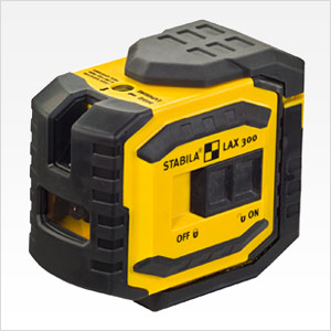 Stabila 03185 LAX300G Green Beam Cross Line Plus Plumb Dots Laser Level by Stabila
