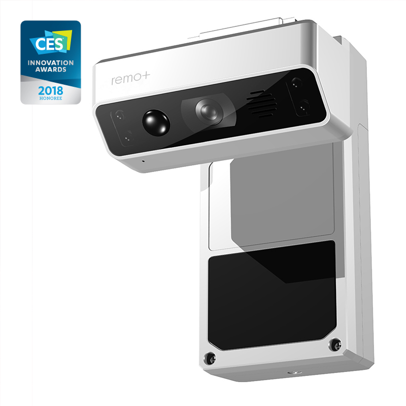 Remo+ DoorCam - Wireless, Over-The-Door Smart Camera with Indoor Wi-Fi, 2-Way Talk, Motion Detection, Night Vision