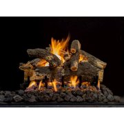 "24"" Arizona See-Thru Weathered Oak 7 Piece Log Set"