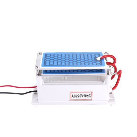 Portable 10g/h Ceramic Ozone Generator Double Integrated Plate Ozonizer Water Air Purifier For Chemical