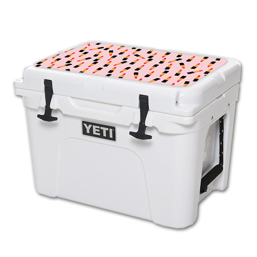 MightySkins Protective Vinyl Skin Decal for YETI Tundra 35 qt Cooler Lid wrap cover sticker skins Lipstick Pattern
