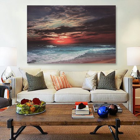 Moaere Modern Oil Painting Print Art Oil Paintings Reproduction Seascape Beach Picture Canvas Wall Art Home Decoration Unframe Art Oil Painting Contemporary Seascape