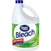 Great Value Bleach, Linen Scent, 121 fl oz