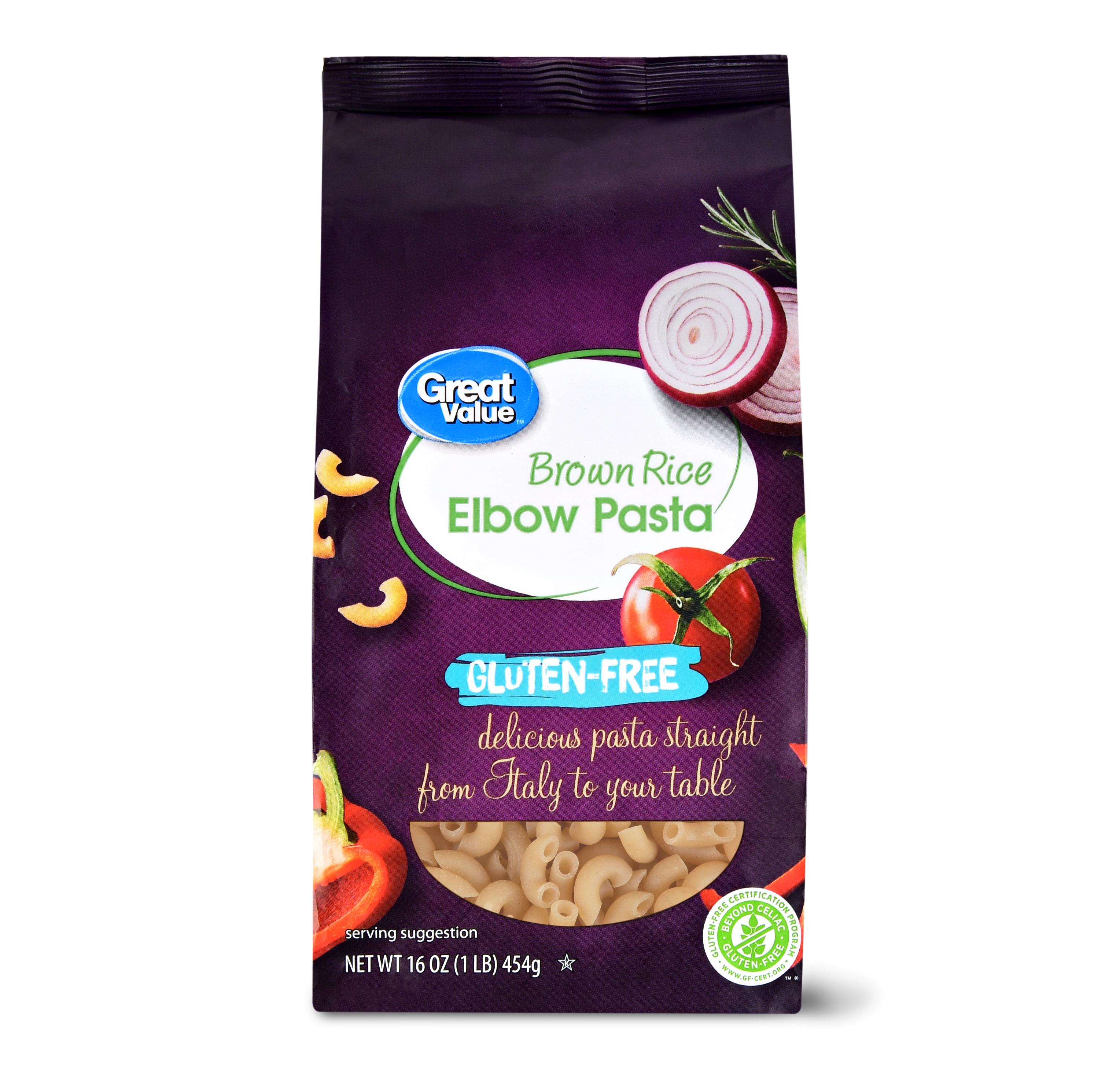 (6 Packs) Great Value Gluten-Free Brown Rice Elbow Pasta, 1lb - $1.66/lb