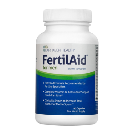 FertilAid for Men: Male Fertility Supplement for Sperm Count, Motility, and