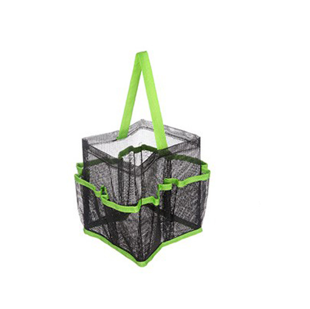 DZT1968 Mesh Shower Tote Wash Bag Bathroom Caddy With 8 Basket Pocket Storage Package by