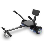 """Hover-1 All-Star Hoverboard & Go-Kart Attachment Combo, Black with LED Multi-Color Wheel Board Lights, 6.5"""" Board Tires, Hand-Operated Real-Wheel Drive, Adjustable Seat and Frame, up to 220lbs., 7 mph"""