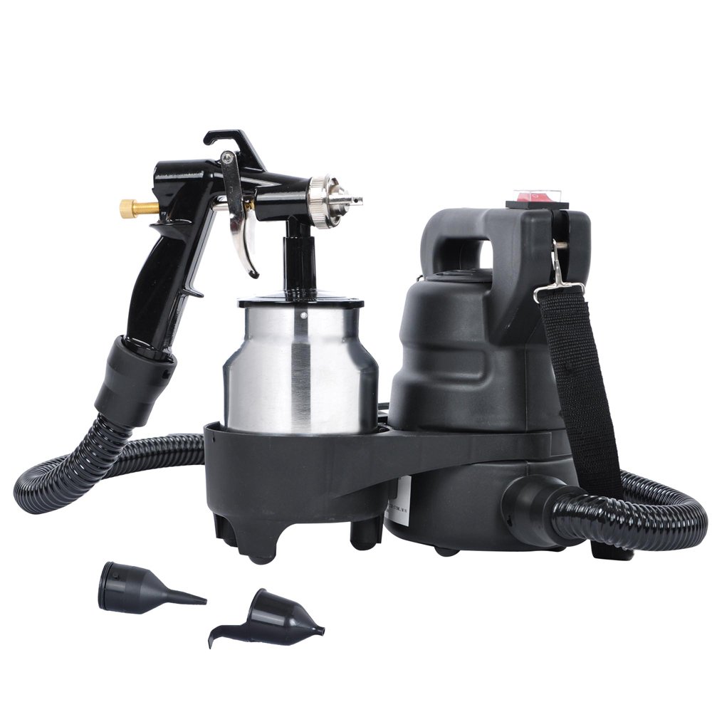 "Yescom 450W Detachable Electric HVLP Spray Gun Auto Paint Bottom Feed Sprayer w/ 64"" Flexible Air Hose and Gun Holder"
