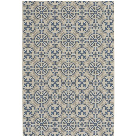 Capel Rugs Elsinore-Tile Rectangle Woven Area Rug - Blueberry- 3