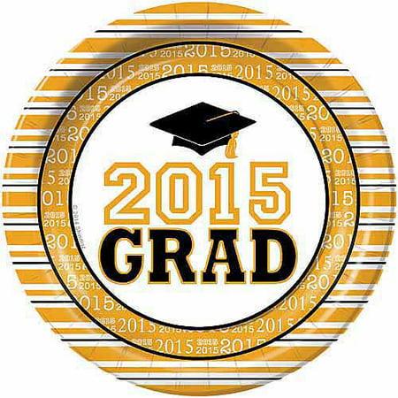 grad success graduation dinner plates pack of 50 yellow walmart com