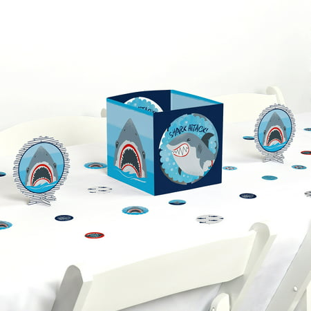 shark zone - shark week party - jawsome shark party or birthday party centerpiece & table decoration kit