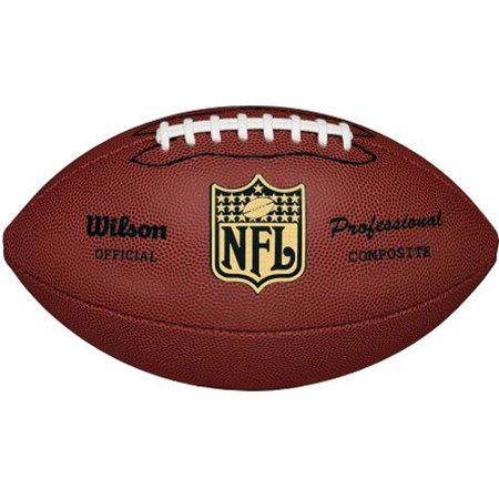 Nfl Team Logo Football - Wilson NFL Pro Replica Official Size Composite Leather Game Football