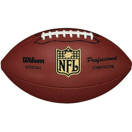 NFL Pro Replica Official Size Composite Leather Game - 4 Piece Star Football