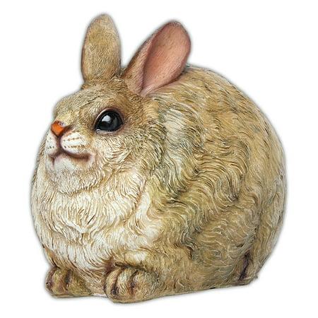 MayRich 7'' Round Fatty Woodland Animal Statue Rabbit Figurine Home Decor