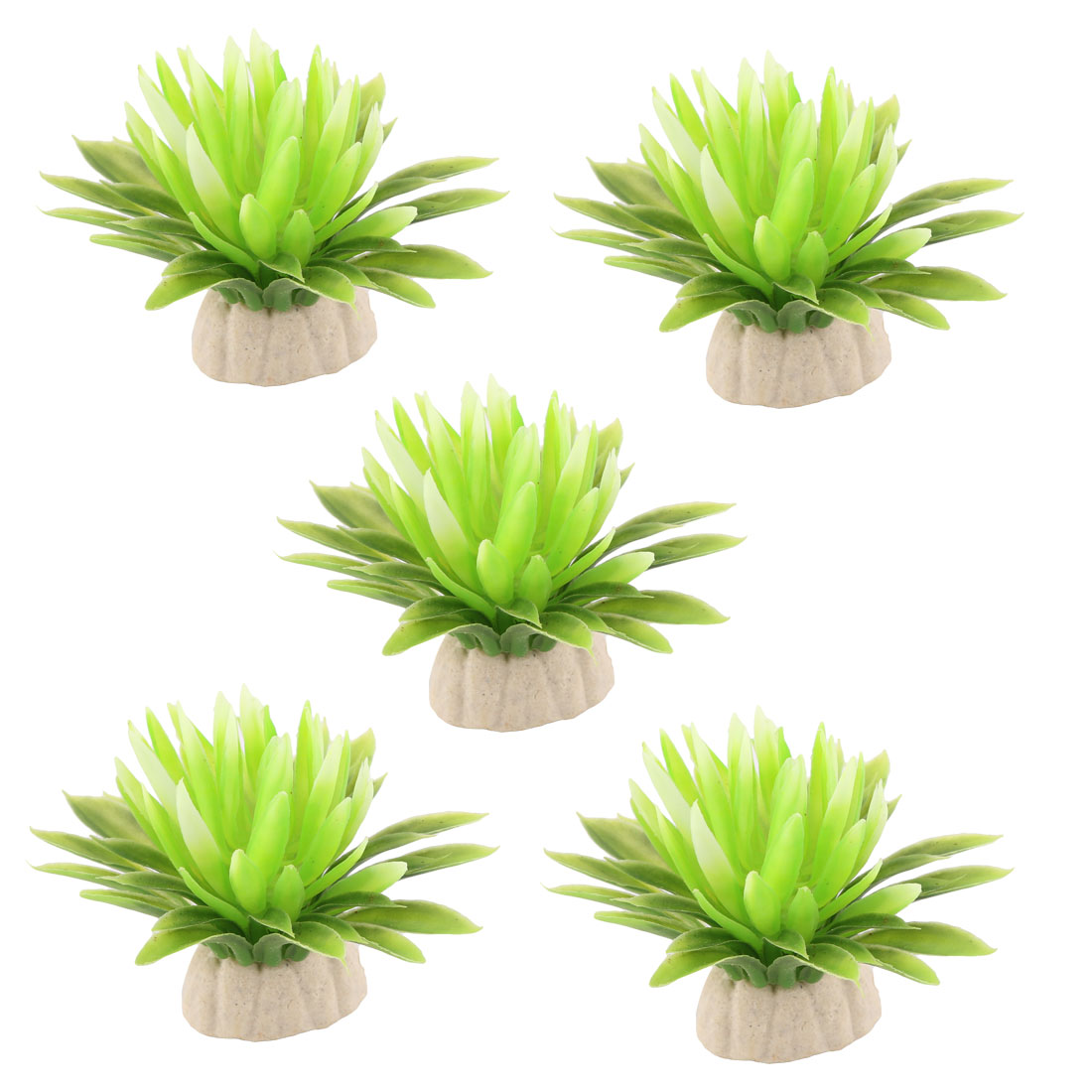 Aquarium Fish Tank Plastic Artificial Underwater Grass Plant Decor Green 5pcs