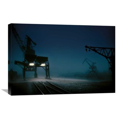 Global Gallery Habour At Night By Hans Bauer Photographic Print On Wrapped Canvas