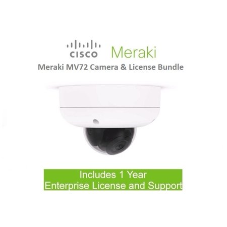 Cisco Meraki MV72 Outdoor Cloud Managed Security Camera Includes 1 Year License Bundle